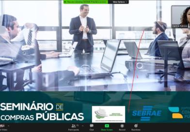 Seminário de Compras Públicas em parceria com o SEBRAE